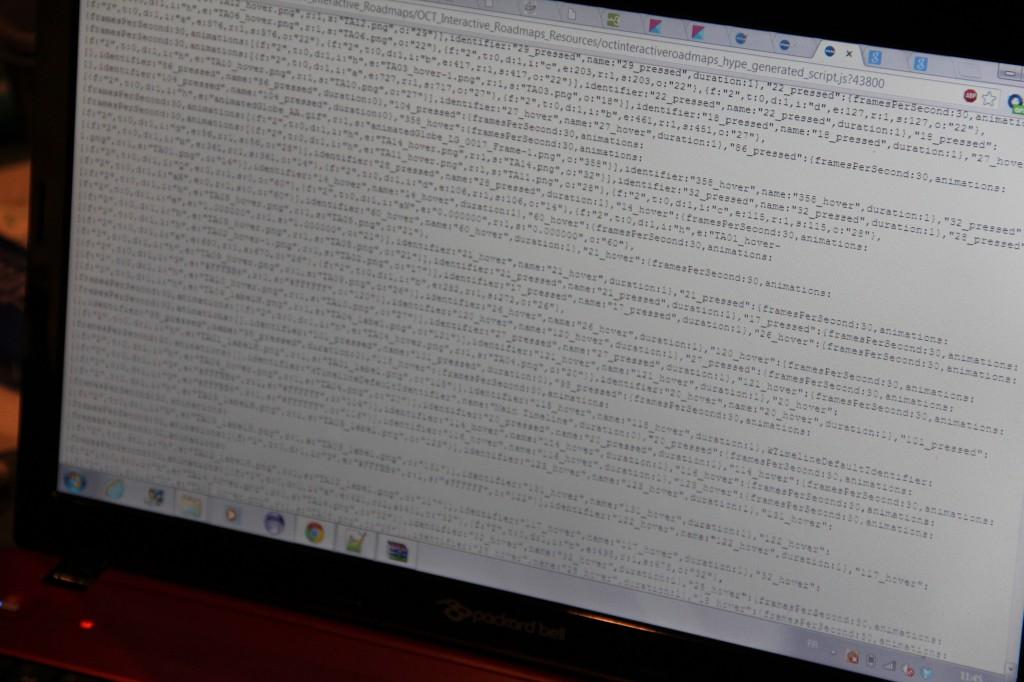 L'écran d'ordinateur d'un étudiant de .... Polytech !