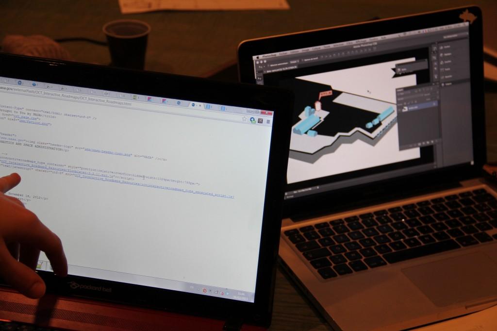 Langage codé vs. web design. L'hybridation opère.