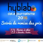 HybLab Datajournalisme 2016 : la soirée de remise de prix