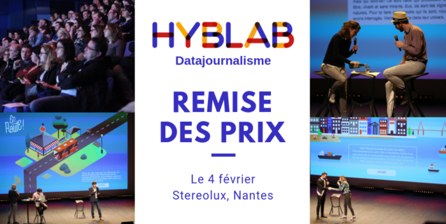 Soirée de remise des prix du HybLab «Datajournalisme» le 4 février